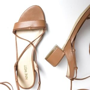 Nine West Shoes - Lace Up Radka Ghillie Sandals - Leather -Nine West